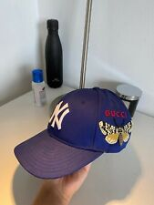 Gucci Blue New York Yankees Embroidered Butterfly Cap Limited Edition