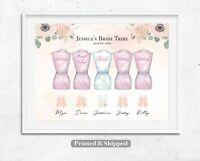 Personalised Bridesmaid Print,Wedding Party Print,Bride Gift,Bridesmaid Gift