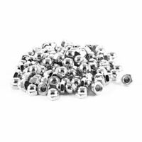 100pcs Nickle Plated Dome Head Acorn Cap Capped Hex Nut M6 6mm