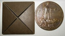 WWI Table Medal Named to British Soldier Died for Freedom and Honor Bronze