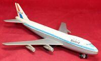 """Modern Toys Boeing 747 Airplane 11"""" Friction Toy - Tin & Metal - Japan - Vintage"""
