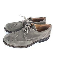 ECCO Brogue Oxford Dress Shoes Dark Clay Grey Size 40
