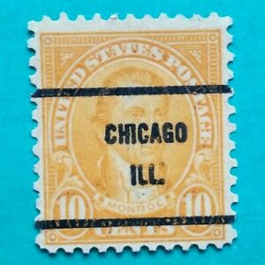 10 Cent Monroe Chicago ILL  Postage Precancel Issue Stamp Used