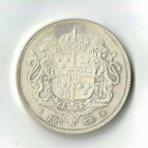 1996 Sweden 200 Kronor Cuhaj KM 886, 0.925 silver coin 27.03 gr