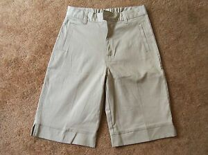French Toast Girls Bermuda Shorts School Uniform Khaki Stretch H9119 Sz 14 NWOT