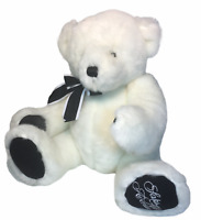 Gund Jack the Saks Fifth Avenue Teddy Bear Jointed Plush White Stuffed Animal