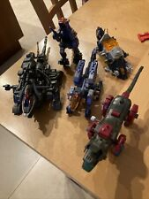 zoids vintage mini figure lot of 5 Incomplete Sold As Is Tomy