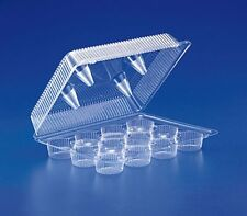 12-Compartment MINI Cupcake / Muffin Container Clear Plastic Hinged Holder 10/PK
