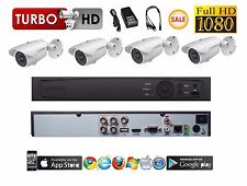 4 Channel HD-TVI Tribrid Turbo+4 pcs 2MP TVI/CVI/AHD 4 IN 1 Bullet 1080P Cameras