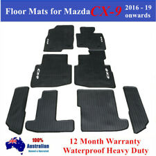Heavy Duty Rubber Floor Mats for Mazda CX-9 CX9 2016 - 2018 2019 7 Seats 3 rows