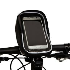 BTR Bike Handlebar Bag Bicycle Phone Holder Mount & 6 X Puncture Repair Patches