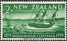 NEW ZEALAND -1959-Ships- Marlborough Centennial 1859-1959 - H.M Endeavour - #327