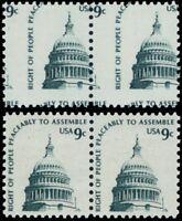 1591, Mint NH 9¢ Capital Two Way Misperforation ERROR Pair - Stuart Katz