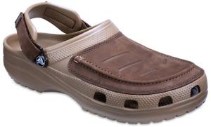 Crocs Yukon Vista Clogs Leather Walking Adjustable Comfort Mens Sandals Shoes