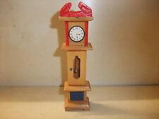 Puppenstube Kaufmannsladen Möbel Wohnstube Bauernstube alt rustikal Standuhr Uhr