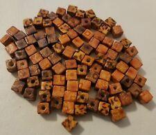 50 un Cubo Beads Mezclados Color de madera Joyería Craft Supplies 8mm-B11022