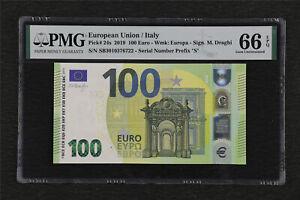 2019 European Union / Italy 100 Euro Pick#24s PMG 66 EPQ Gem UNC