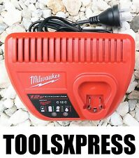 NEW GENUINE MILWAUKEE M12 12V LI-ION RED LITHIUM BATTERY CHARGER - C12C - 12V