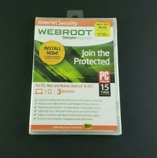 "Brand New Sealed Webroot Secure Anywhere Internet Security ""Join The Protected"""