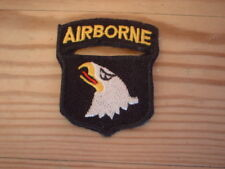 101st Airborne Black & White Badge Embroidered Patch  4 x 5 cm