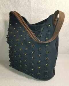 Anthropologie MISS ALBRIGHT Speciality  Leather & Suede /Wool HOBO Shoulder Bag