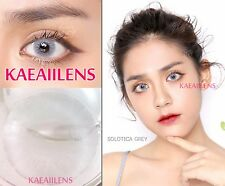 Contact Lenses Color Soft Big Eye UV Protection Makeup Lens Solotica Light Gray