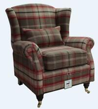 Ashley Wing Chair Fireside High Back Armchair Balmoral Rosso Check PS