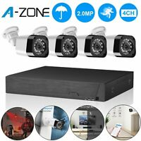 A-ZONE 4CH 1080P DVR AHD Home Security Camera System CCTV Surveillance IR-Cut