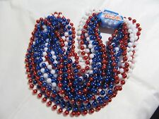 Lot Of 12 New Usa Red White Blue Party Beads Necklace Independence Day July 4th