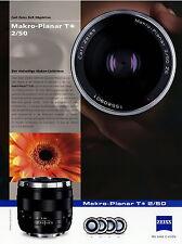 1 Zeiss Prospekt Datenblatt Kamera Objektiv Makro Planar T 2/50 2010 brochure