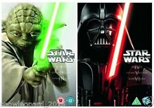 STAR WARS COMPLETE FILM SAGA COLLECTION DVD 1 2 3 4 5 ALL 6 EPISODE MOVIE NEW UK