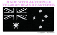 AUSTRALIA ALL-BLACK FLAG PATCH EMBROIDERED DOWN UNDER w/ VELCRO® Brand Fastener