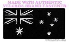 AUSTRALIA ALL-BLACK FLAG PATCH EMBROIDERED DOWN UNDER w/ VELCRO® Brand Fastener