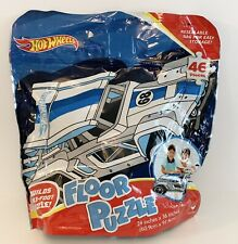HOT WHEELS 46 Piece Floor Puzzle ~ 3 Feet ~ Resealable Bag Easy Storage ~ NEW!