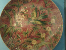 Decorative Plate with Bird and Butterfly and Leaves and Flowers