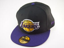 LA Lakers New Era NBA basketball cap black and purple 59FIFTY fitted hat caps