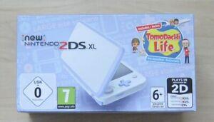 New Nintendo 2DS XL White + Lavender Konsole TomoDachi Life, Neu in OVP