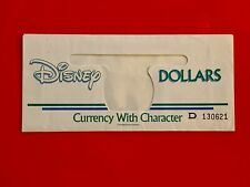 "Disney Dollar ( Serialized Envelope ""D"" ) Gem, Unc, Rare ( Version #4 )"