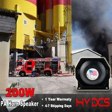 200W 8 Sound Loud Speaker PA Horn Siren System Mic Kit Police Car Fire Truck 12V
