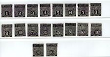 Usa, full set of Postal Note stamps, used (4417