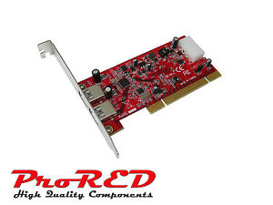 Range Pro MTG PCI 2 Ports USB 3.0 - Low High Profile Drivers Preinstalled