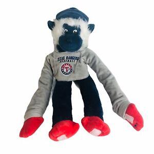 "Texas Rangers Baseball Monkey Plush Blue Sticky Hands 19"" Stuffed Animal Toy"