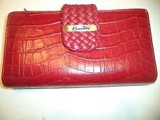 Buxton Croco Wallet CheckbookClutch My Big Fat Wallet,Red