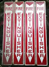 """ONE 4""""x24"""" tin FIRE EXTINGUISHER sign READY MADE SIGN CO., NY safety rescue"""
