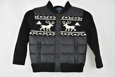 Polo Ralph Lauren Toddler Boys Merino Wool Hybrid Jacket Black Multi 2-2T
