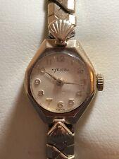 Vintage Felca 9ct Gold Watch - Rolled Gold Strap Wrist Watch