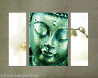 Wellness Wandbild Buddha Orchidee Badezimmer BAD Wohn DEKO SET Wandtattoo Budda