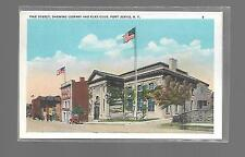 PIKE STREET,LIBRARY AND ELKS CLUB,PORT JERVIS NEW YORK POSTCARD UNUSED NEW !!