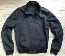 Dolce & Gabbana Black Silk/Cotton Mens Bomber Jacket, Size 50, Made in Italy