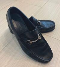 Authentic Gucci Men's Dress Office Business Slip On Shoes Black Size 10 D